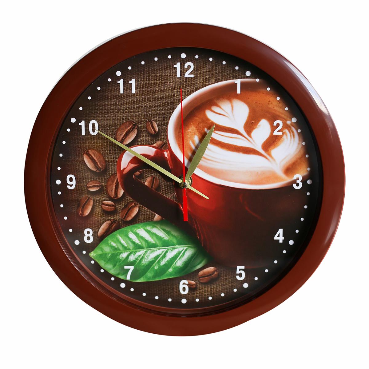 Часы настенные Соломон Кофе, цвет: коричневый