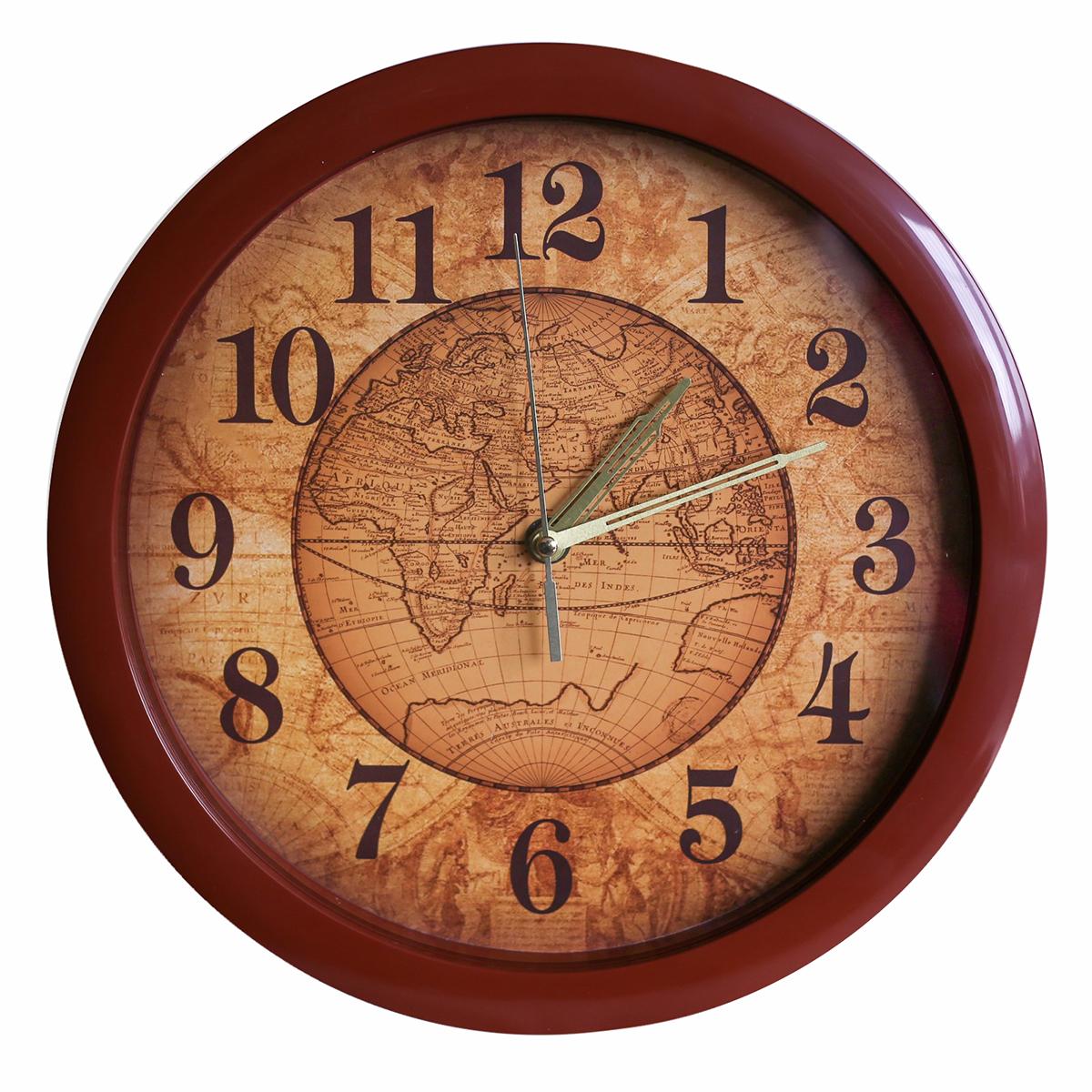 Часы настенные Соломон Карта2436393Каждому хозяину периодически приходит мысль обновить свою квартиру, сделать ремонт, перестановку или кардинально поменять внешний вид каждой комнаты. — привлекательная деталь, которая поможет воплотить вашу интерьерную идею, создать неповторимую атмосферу в вашем доме. Окружите себя приятными мелочами, пусть они радуют глаз и дарят гармонию.Настенные часы пластик Карта, коричневый обод 2436393