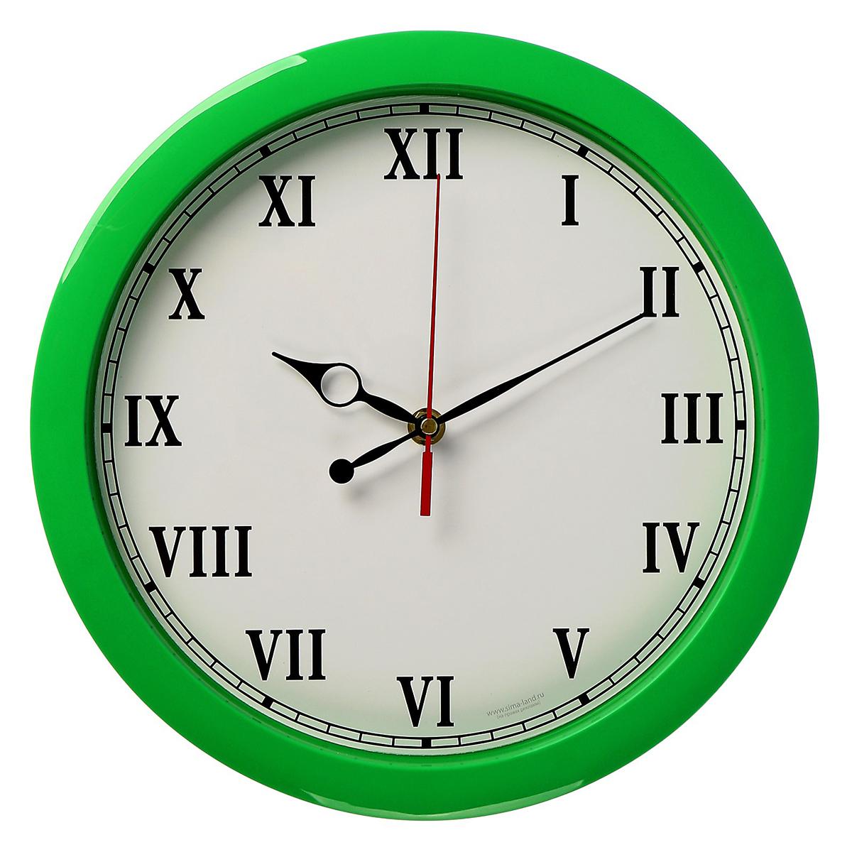 Часы настенные Классика, цвет: зеленый. 24364762436476Каждому хозяину периодически приходит мысль обновить свою квартиру, сделать ремонт, перестановку или кардинально поменять внешний вид каждой комнаты. — привлекательная деталь, которая поможет воплотить вашу интерьерную идею, создать неповторимую атмосферу в вашем доме. Окружите себя приятными мелочами, пусть они радуют глаз и дарят гармонию.Настенные часы пластик Классика, зелёный обод 2436476