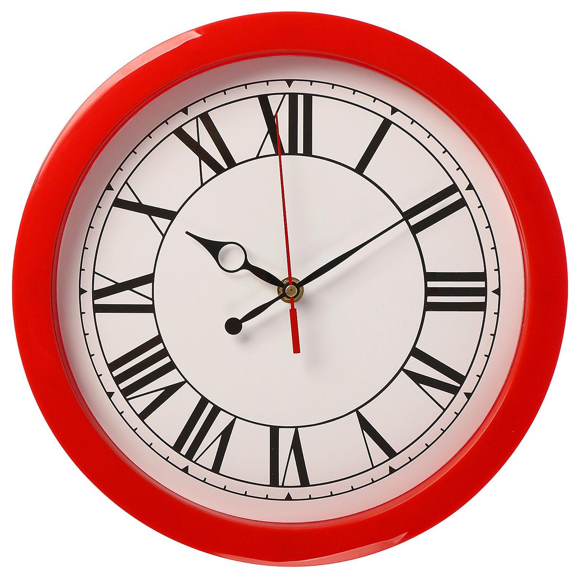 Часы настенные Классика, цвет: красный. 2436481 хочу продать свою квартиру которая менее 3х лет и другую какие налоги надо заплатить