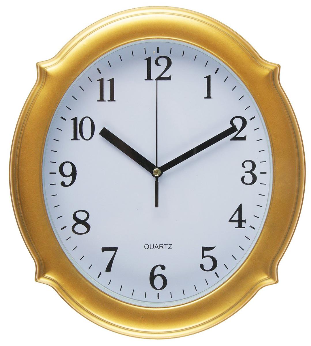 Часы настенные Шипы, цвет: золото, 23 х 26 см2457682Каждому хозяину периодически приходит мысль обновить свою квартиру, сделать ремонт, перестановку или кардинально поменять внешний вид каждой комнаты. — привлекательная деталь, которая поможет воплотить вашу интерьерную идею, создать неповторимую атмосферу в вашем доме. Окружите себя приятными мелочами, пусть они радуют глаз и дарят гармонию.Часы настенные классика, рама золото, овал, шипы, 23*3*26см 2457682