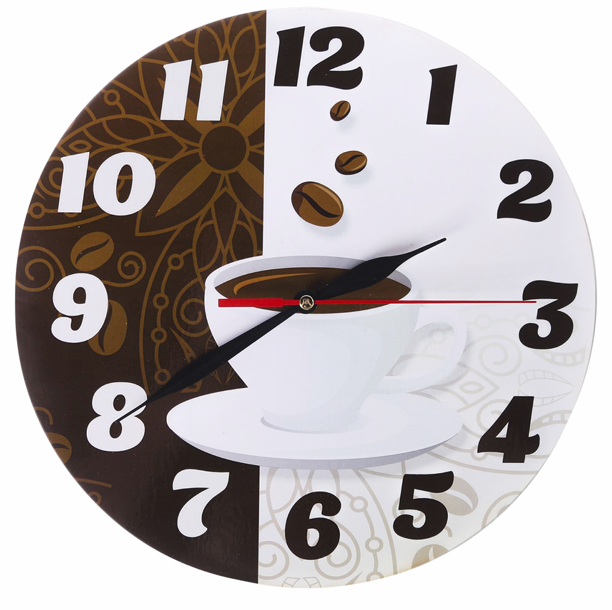 Часы настенные Кофейные, диаметр 25 см. 24978802497880Каждому хозяину периодически приходит мысль обновить свою квартиру, сделать ремонт, перестановку или кардинально поменять внешний вид каждой комнаты. — привлекательная деталь, которая поможет воплотить вашу интерьерную идею, создать неповторимую атмосферу в вашем доме. Окружите себя приятными мелочами, пусть они радуют глаз и дарят гармонию.— сувенир в полном смысле этого слова. И главная его задача — хранить воспоминание о месте, где вы побывали, или о том человеке, который подарил данный предмет. Преподнесите эту вещь своему другу, и она станет достойным украшением его дома.Часы Кофейные круглые, O 25 см 2497880