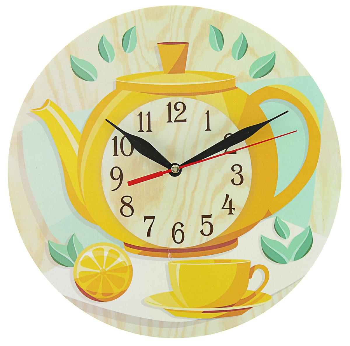 """Часы настенные """"Чаепитие"""" — сувенир в полном смысле этого слова. И главная его задача — хранить воспоминание о месте, где вы побывали, или о том человеке, который подарил данный предмет. Преподнесите эту вещь своему другу, и она станет достойным украшением его дома. Каждому хозяину периодически приходит мысль обновить свою квартиру, сделать ремонт, перестановку или кардинально поменять внешний вид каждой комнаты. — привлекательная деталь, которая поможет воплотить вашу интерьерную идею, создать неповторимую атмосферу в вашем доме. Окружите себя приятными мелочами, пусть они радуют глаз и дарят гармонию.Часы """"Чаепитие"""" круглые, O 25 см 2497885"""