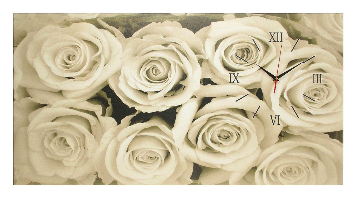 Часы настенные на холсте Сюжет Белые розы, 50 х 100 см2570080Каждому хозяину периодически приходит мысль обновить свою квартиру, сделать ремонт, перестановку или кардинально поменять внешний вид каждой комнаты. — привлекательная деталь, которая поможет воплотить вашу интерьерную идею, создать неповторимую атмосферу в вашем доме. Окружите себя приятными мелочами, пусть они радуют глаз и дарят гармонию.Часы на холсте Белые розы, 50х100 см 2570080