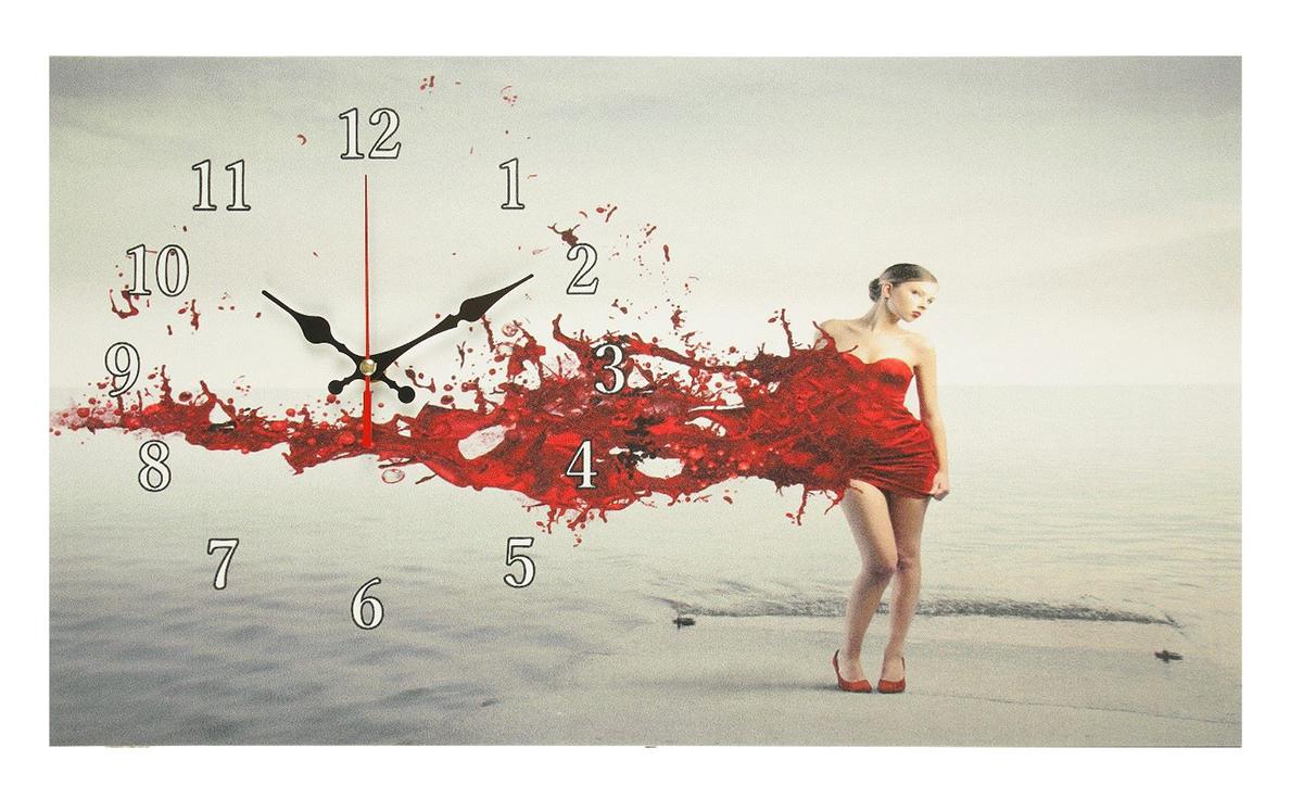 Часы настенные на холсте Сюжет Девушка в красном платье, 35 х 60 см2570176Каждому хозяину периодически приходит мысль обновить свою квартиру, сделать ремонт, перестановку или кардинально поменять внешний вид каждой комнаты. — привлекательная деталь, которая поможет воплотить вашу интерьерную идею, создать неповторимую атмосферу в вашем доме. Окружите себя приятными мелочами, пусть они радуют глаз и дарят гармонию.Часы на холсте Девушка в красном платье, 35х60 см 2570176