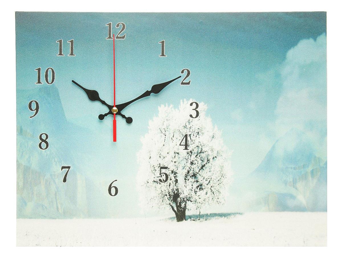 Часы настенные на холсте Сюжет Заснеженное дерево, 30 х 40 см хочу продать свою квартиру которая менее 3х лет и другую какие налоги надо заплатить