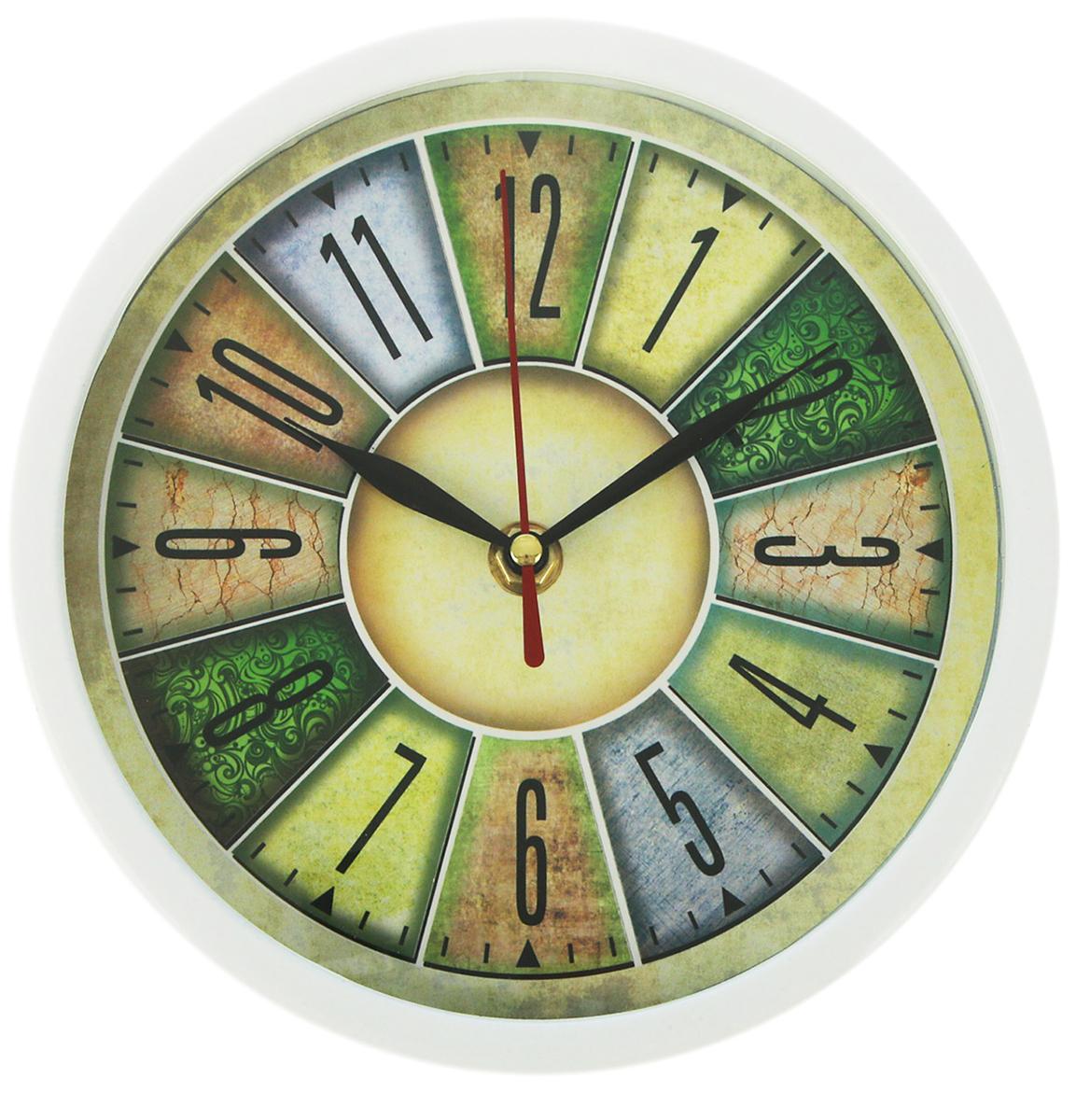 Часы настенные с цифрами в отсеках, диаметр 20 см ивантеевка квартиру в монолитно кирпичном доме