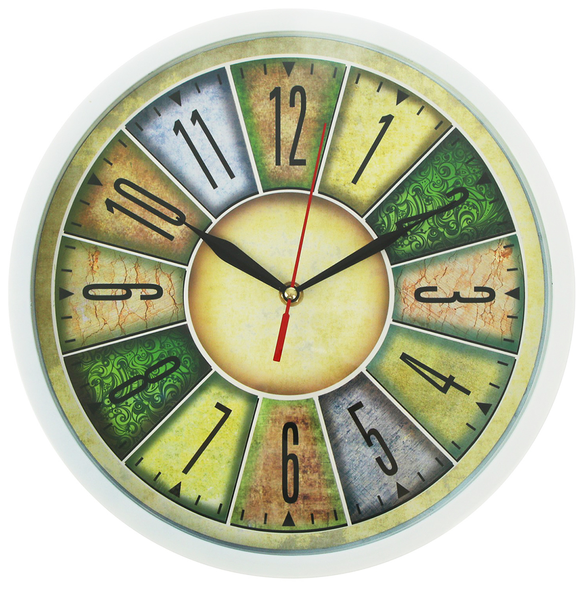 Часы настенные с цифрами в отсеках, диаметр 32 см2578117Каждому хозяину периодически приходит мысль обновить свою квартиру, сделать ремонт, перестановку или кардинально поменять внешний вид каждой комнаты. — привлекательная деталь, которая поможет воплотить вашу интерьерную идею, создать неповторимую атмосферу в вашем доме. Окружите себя приятными мелочами, пусть они радуют глаз и дарят гармонию.Часы настенные круг, белые, цифербал цифры в отсеках d=32см 2578117