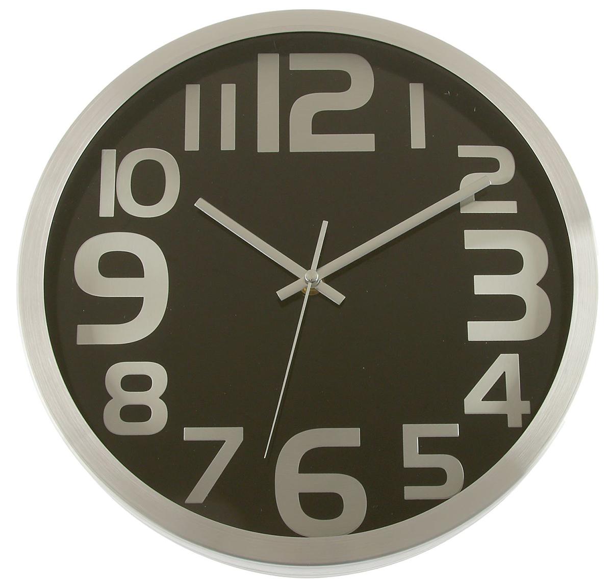 Часы настенные, цвет: хром, черный, диаметр 30 см. 25781272578127Каждому хозяину периодически приходит мысль обновить свою квартиру, сделать ремонт, перестановку или кардинально поменять внешний вид каждой комнаты. — привлекательная деталь, которая поможет воплотить вашу интерьерную идею, создать неповторимую атмосферу в вашем доме. Окружите себя приятными мелочами, пусть они радуют глаз и дарят гармонию.Часы настенные круг, рама хром, циферблат черные, большие цифры хром d=30см 2578127