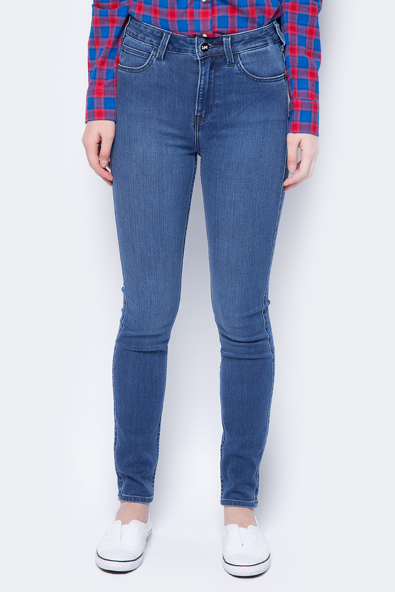 Джинсы женские Lee Skyler, цвет: синий. L308RKUK. Размер 32-31 (48-31) джинсы женские lee scarlett high цвет синий l626hael размер 30 31 46 31