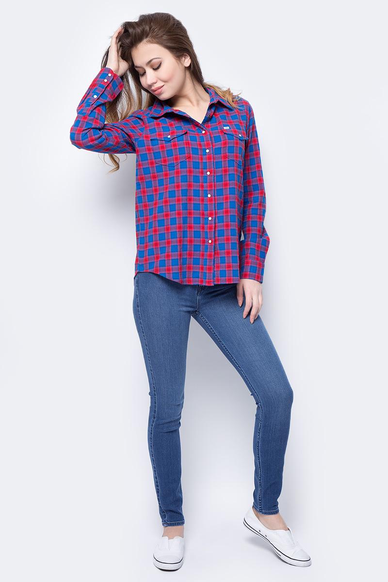 Джинсы женские Lee Skyler, цвет: синий. L308RKUK. Размер 28-31 (44-31)L308RKUKЖенские джинсы-скинни Lee Skyler, выполненные из высококачественного материала, подчеркнут все достоинства вашей фигуры. Джинсы прилегающего кроя завышенной посадки на талии застегиваются на пуговицу в поясе и ширинку на застежке-молнии. На поясе имеются шлевки для ремня. Модель представляет собой классическую пятикарманку: два втачных и накладной карманы спереди и два накладных кармана сзади. Мягкая ткань приятна на ощупь и комфортна в носке.