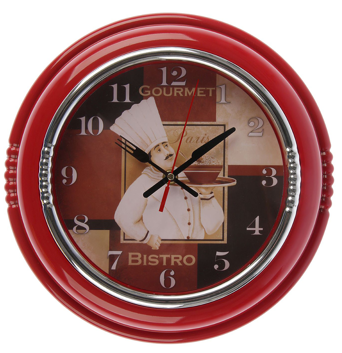 Часы настенные Поваренок, цвет: красный, диаметр 30 см хочу продать свою квартиру которая менее 3х лет и другую какие налоги надо заплатить