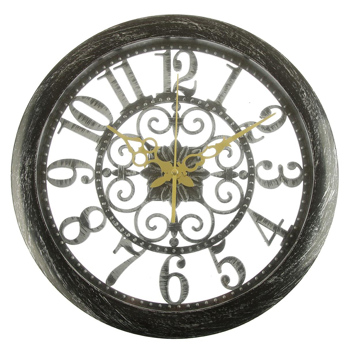 Часы настенные интерьерные Винтаж, цвет: потертое серебро, 36 х 36 см2582101Каждому хозяину периодически приходит мысль обновить свою квартиру, сделать ремонт, перестановку или кардинально поменять внешний вид каждой комнаты. — привлекательная деталь, которая поможет воплотить вашу интерьерную идею, создать неповторимую атмосферу в вашем доме. Окружите себя приятными мелочами, пусть они радуют глаз и дарят гармонию.Часы настенные интерьерные Винтаж, большие цифры,потёртое серебро, 36*6*36 2582101
