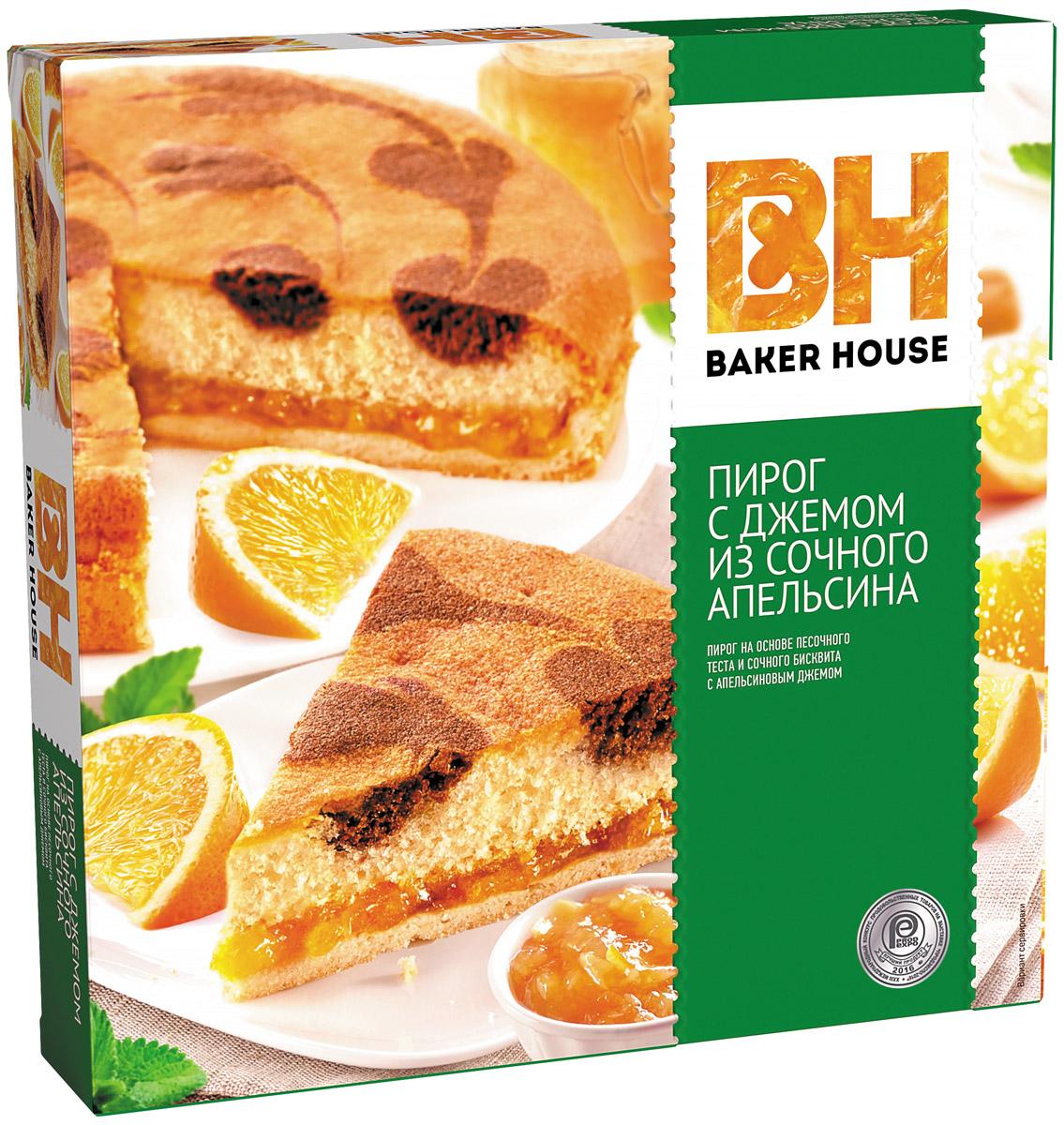 Baker House пирог апельсин, 550 г ростагроэкспорт желе апельсин 125 г