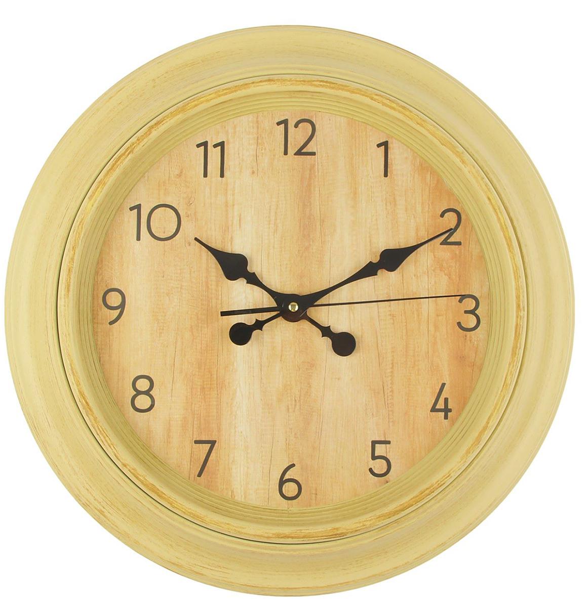 Часы настенные, цвет: кремовый, дуб, 45 х 45 см хочу продать свою квартиру которая менее 3х лет и другую какие налоги надо заплатить