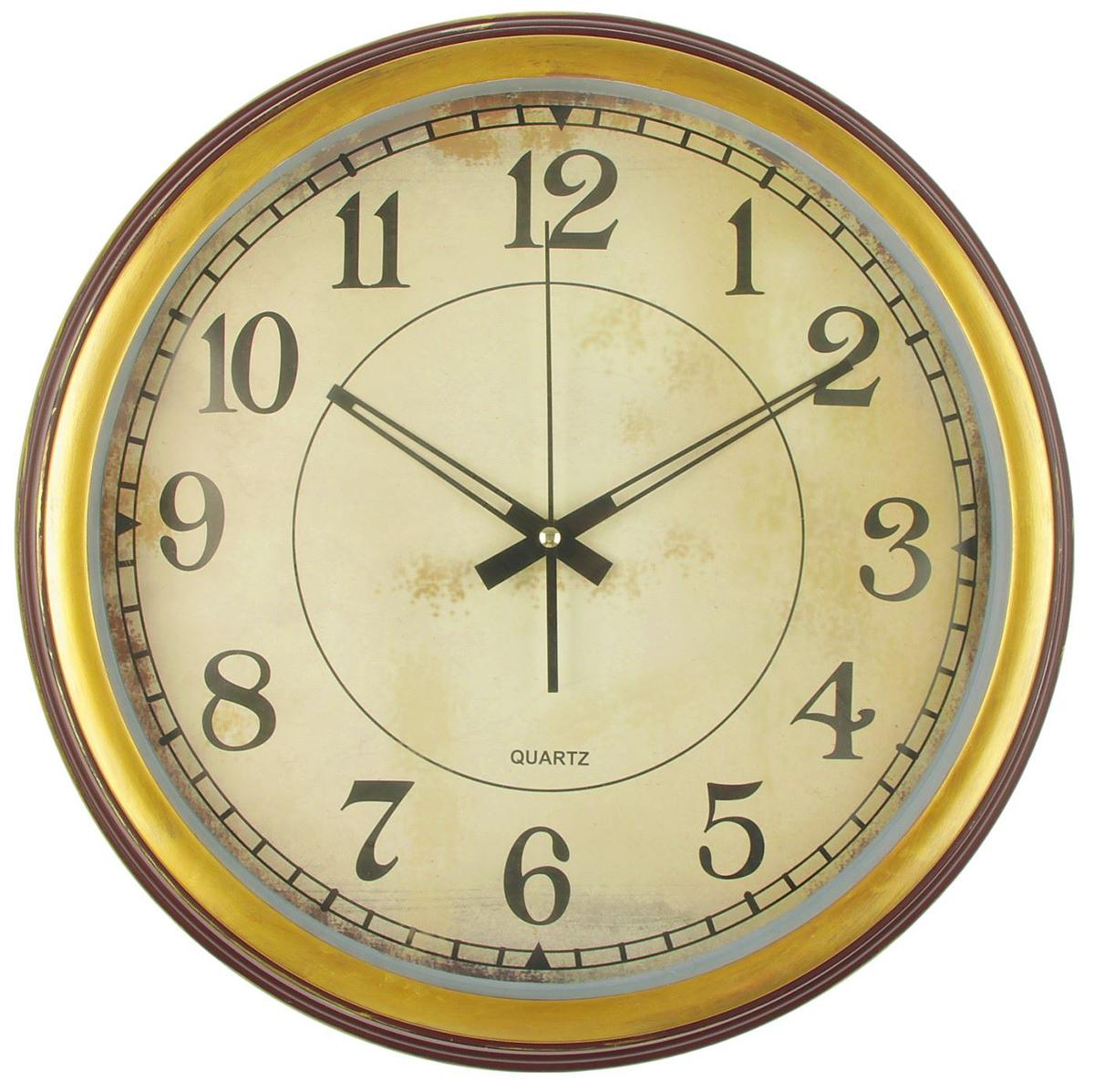 Часы настенные Старина, 40 х 40 см2590546Каждому хозяину периодически приходит мысль обновить свою квартиру, сделать ремонт, перестановку или кардинально поменять внешний вид каждой комнаты. — привлекательная деталь, которая поможет воплотить вашу интерьерную идею, создать неповторимую атмосферу в вашем доме. Окружите себя приятными мелочами, пусть они радуют глаз и дарят гармонию.Часы настенные классика круг пластик объемные, края под дерево с золотом, старина 40*40см 2590546