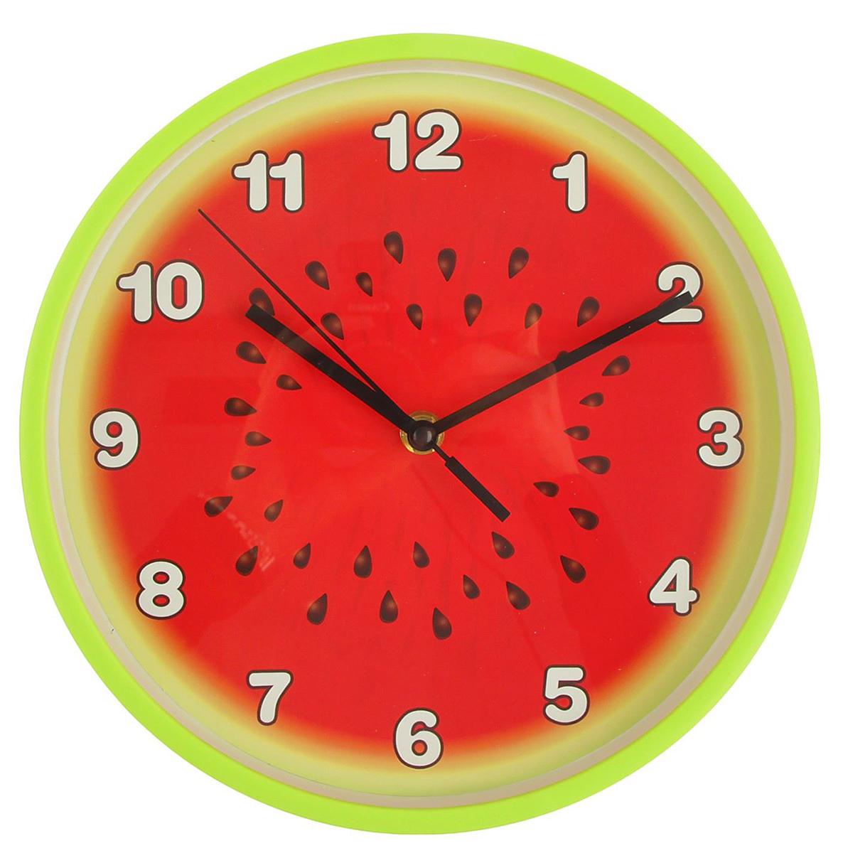 "Часы настенные кухонные ""Арбуз"", диаметр 25 см"