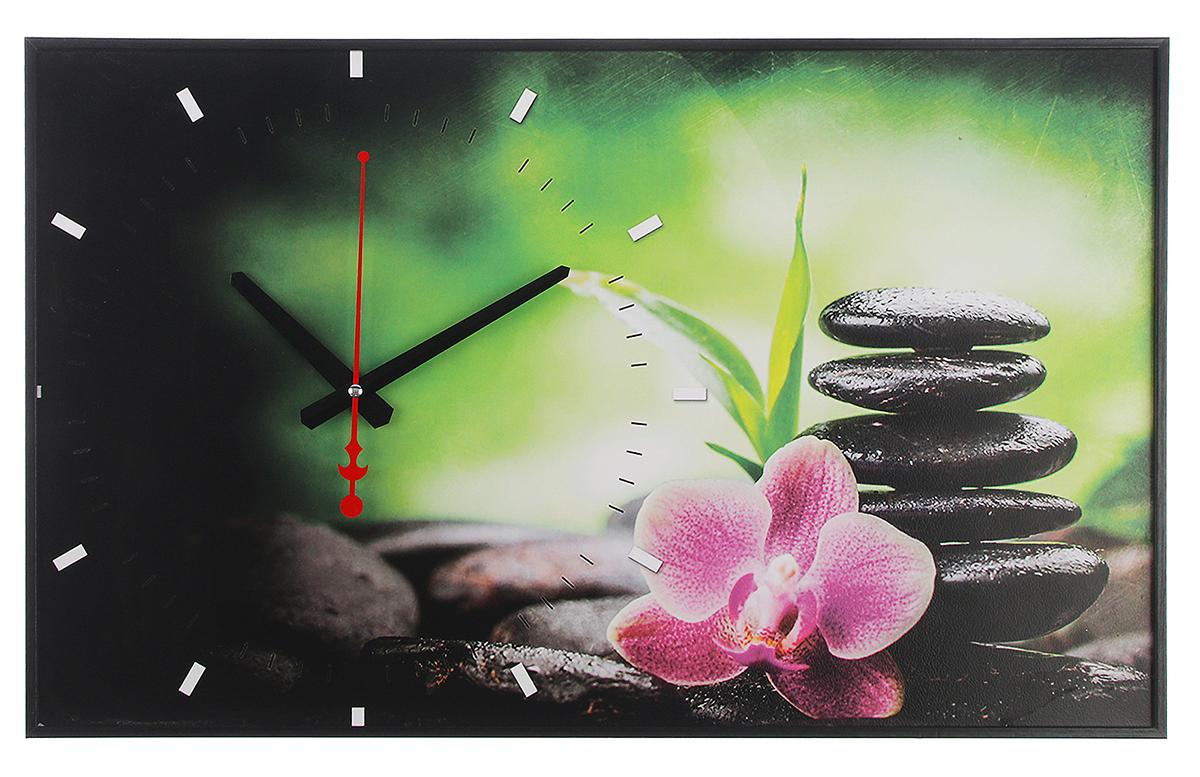 Часы настенные на холсте 21 Век Розовый цветок на камнях, 37 х 60 см2728832Каждому хозяину периодически приходит мысль обновить свою квартиру, сделать ремонт, перестановку или кардинально поменять внешний вид каждой комнаты. — привлекательная деталь, которая поможет воплотить вашу интерьерную идею, создать неповторимую атмосферу в вашем доме. Окружите себя приятными мелочами, пусть они радуют глаз и дарят гармонию.— сувенир в полном смысле этого слова. И главная его задача — хранить воспоминание о месте, где вы побывали, или о том человеке, который подарил данный предмет. Преподнесите эту вещь своему другу, и она станет достойным украшением его дома.Часы на хосте Розовый цветок на камнях, 37х60 см 2728832