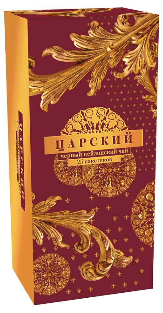 Царский чай черный цейлонский в пакетиках, 25 шт