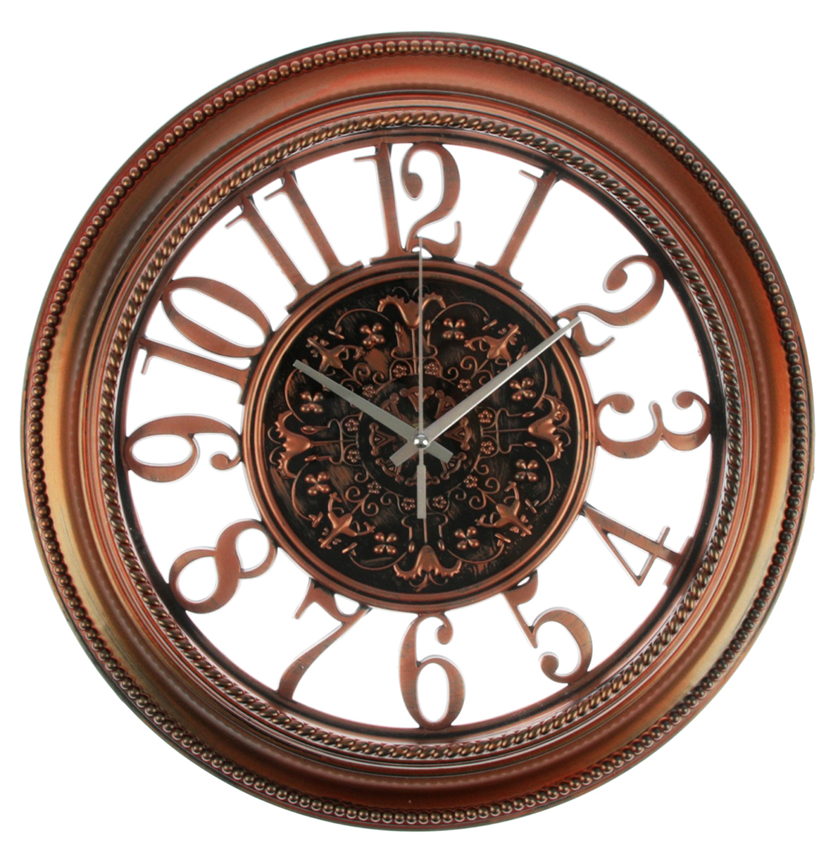 Часы настенные Цифры, цвет: бронза, диаметр 36 см2757016Каждому хозяину периодически приходит мысль обновить свою квартиру, сделать ремонт, перестановку или кардинально поменять внешний вид каждой комнаты. — привлекательная деталь, которая поможет воплотить вашу интерьерную идею, создать неповторимую атмосферу в вашем доме. Окружите себя приятными мелочами, пусть они радуют глаз и дарят гармонию.Часы настенные серия Цифры, круг, цифры по кайме, цифер-т с узором, цвет рамы бронза, d=36см 27570