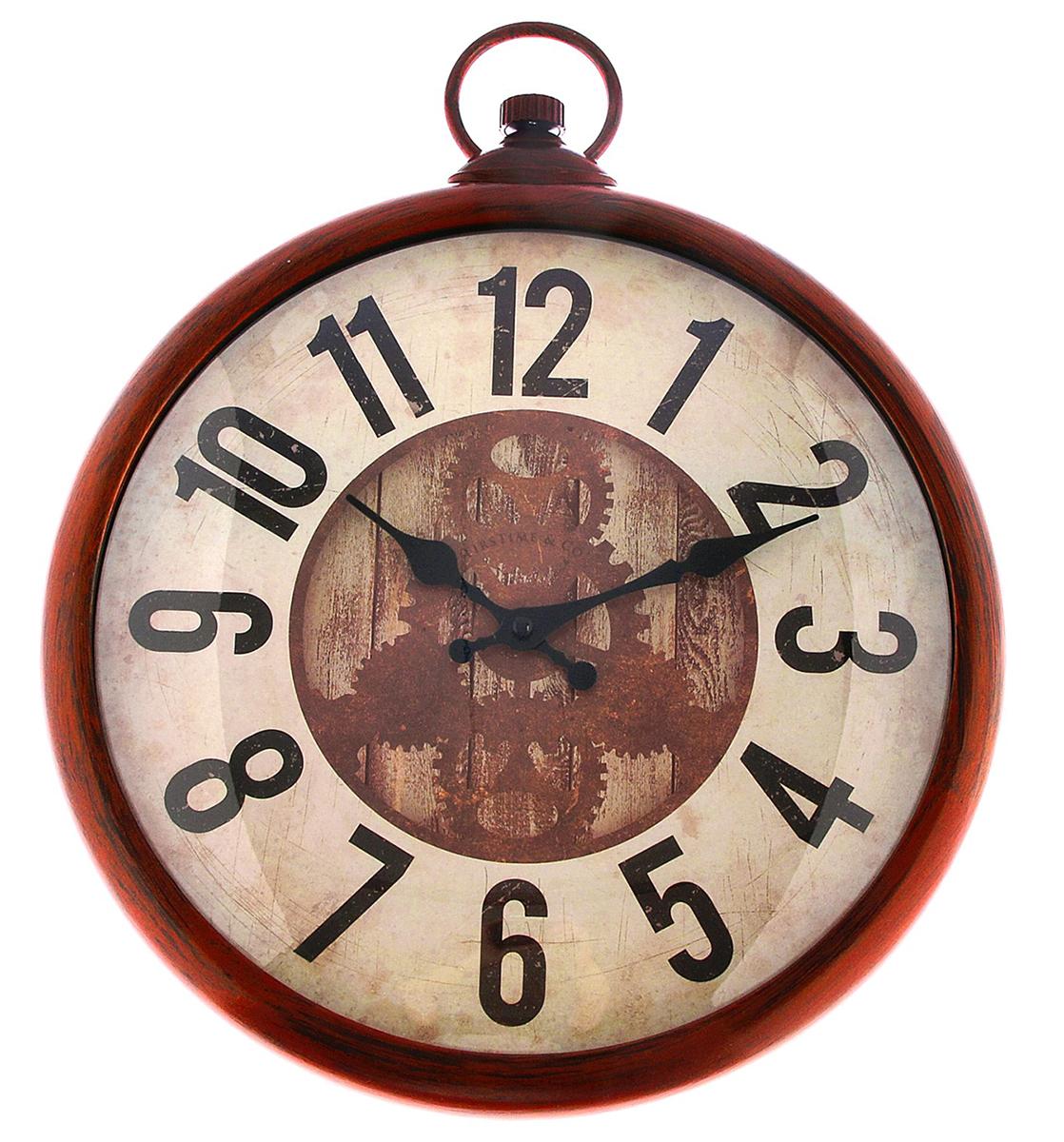 Часы настенные на брелке Шестеренки, 35 х 43 см2761165Каждому хозяину периодически приходит мысль обновить свою квартиру, сделать ремонт, перестановку или кардинально поменять внешний вид каждой комнаты. — привлекательная деталь, которая поможет воплотить вашу интерьерную идею, создать неповторимую атмосферу в вашем доме. Окружите себя приятными мелочами, пусть они радуют глаз и дарят гармонию.Часы настенные на брелке, цвет медный, на циферблате шестеренки, цифры большие, 35*43см 2761165