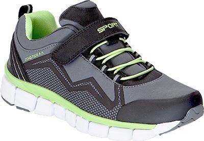 Кроссовки для мальчика Kapika, цвет: серый, салатовый. 74228с-1. Размер 3774228с-1Детские кроссовки от Kapika изготовлены из качественной искусственной кожи и текстиля. Практичная шнуровка и ремешок с липучкой обеспечивают надежную фиксацию модели на ножке. Внутренняя поверхность и стелька из текстиля комфортны при движении. Рифленая подошва обеспечивает хорошее сцепление с поверхностью.