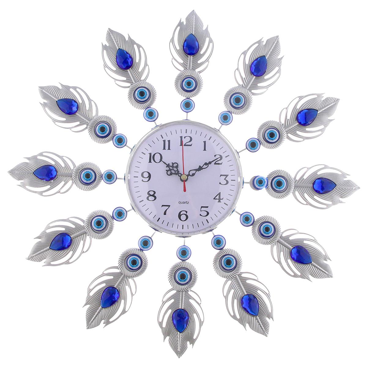 Часы настенные Ажур Турецкие мотивы. Жар-птица, диаметр 39 см2763530Каждому хозяину периодически приходит мысль обновить свою квартиру, сделать ремонт, перестановку или кардинально поменять внешний вид каждой комнаты. — привлекательная деталь, которая поможет воплотить вашу интерьерную идею, создать неповторимую атмосферу в вашем доме. Окружите себя приятными мелочами, пусть они радуют глаз и дарят гармонию.Часы настенные серии Ажур Турецкие мотивы, Жар-птица, серебр+син+гол, d=39см 2763530