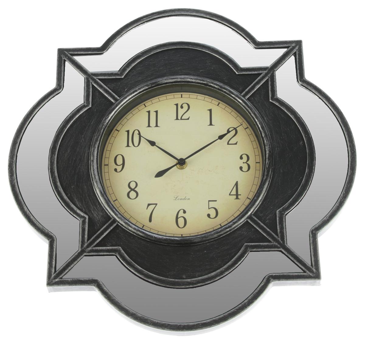Часы настенные Зеркала, цвет: серебро, 40 х 40 см2770475Каждому хозяину периодически приходит мысль обновить свою квартиру, сделать ремонт, перестановку или кардинально поменять внешний вид каждой комнаты. — привлекательная деталь, которая поможет воплотить вашу интерьерную идею, создать неповторимую атмосферу в вашем доме. Окружите себя приятными мелочами, пусть они радуют глаз и дарят гармонию.Часы настенные. серия Зеркала, фигурные, вставка под дерево в центре, цвет серебро, 40*40см 277047