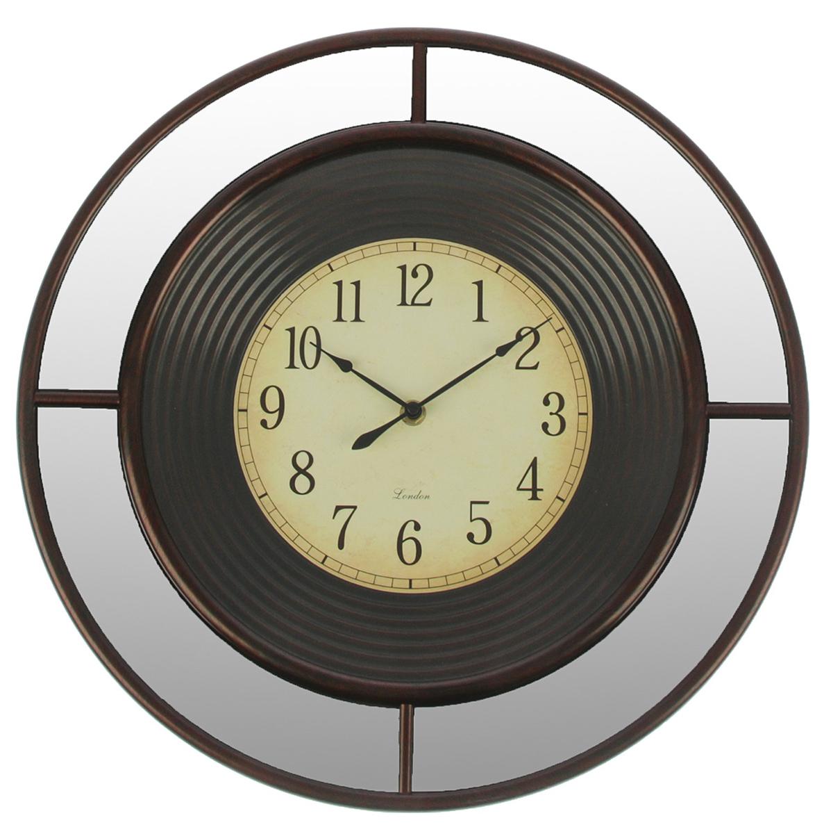 Часы настенные Зеркала, цвет: шоколад, диаметр 56 см2770476Каждому хозяину периодически приходит мысль обновить свою квартиру, сделать ремонт, перестановку или кардинально поменять внешний вид каждой комнаты. — привлекательная деталь, которая поможет воплотить вашу интерьерную идею, создать неповторимую атмосферу в вашем доме. Окружите себя приятными мелочами, пусть они радуют глаз и дарят гармонию.Часы настенные. серия Зеркала, круг, зеркало по ободу, циф-т выцветший, цвет шоколад, d=56см 27704