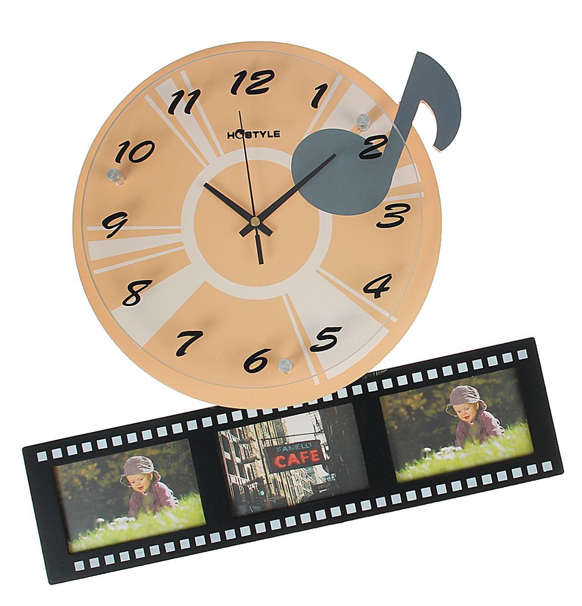 Часы настенные Хайтек. Пленка, 3 фоторамки 7 х 11, 37 х 41 см292897Каждому хозяину периодически приходит мысль обновить свою квартиру, сделатьремонт, перестановку или кардинально поменять внешний вид каждой комнаты.Часы настенные Пленка с часами — привлекательная деталь, которая поможетвоплотить вашу интерьерную идею, создать неповторимую атмосферу в вашемдоме. Окружите себя приятными мелочами, пусть они радуют глаз и дарятгармонию.