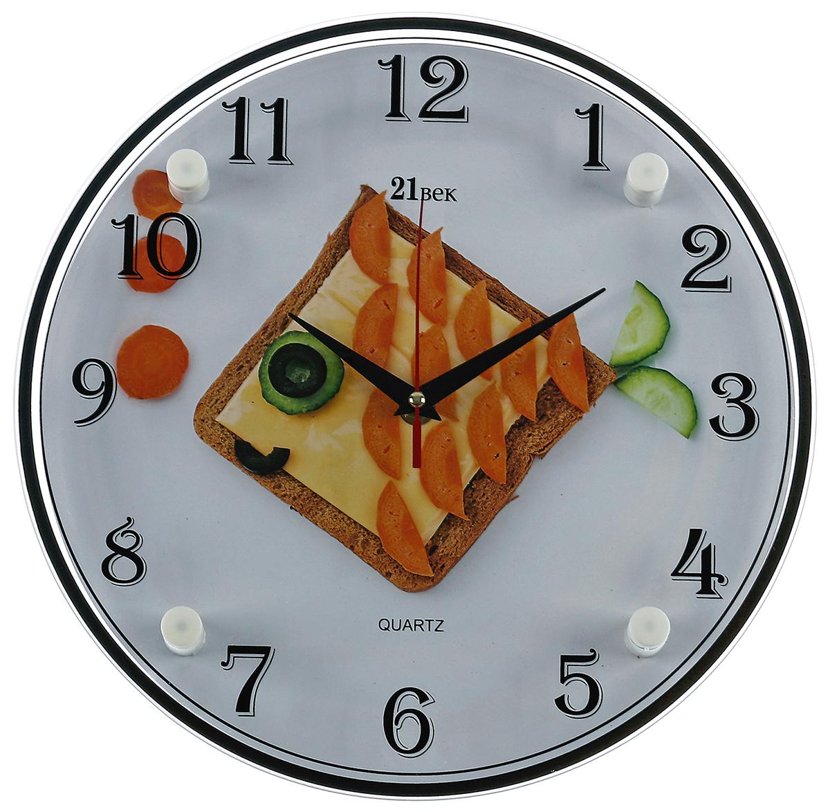 Часы настенные 21 Век Рыбка-бутерброд, диаметр 30 см2976059Каждому хозяину периодически приходит мысль обновить свою квартиру, сделать ремонт, перестановку или кардинально поменять внешний вид каждой комнаты. — привлекательная деталь, которая поможет воплотить вашу интерьерную идею, создать неповторимую атмосферу в вашем доме. Окружите себя приятными мелочами, пусть они радуют глаз и дарят гармонию.— сувенир в полном смысле этого слова. И главная его задача — хранить воспоминание о месте, где вы побывали, или о том человеке, который подарил данный предмет. Преподнесите эту вещь своему другу, и она станет достойным украшением его дома.Часы настенные круглые Рыбка-бутерброд 30х30 см 2976059