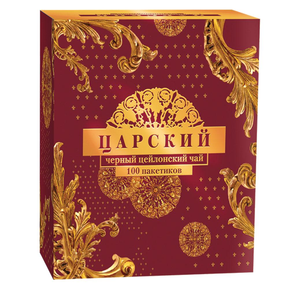Царский чай черный цейлонский в пакетиках, 100 шт царский поцелуй
