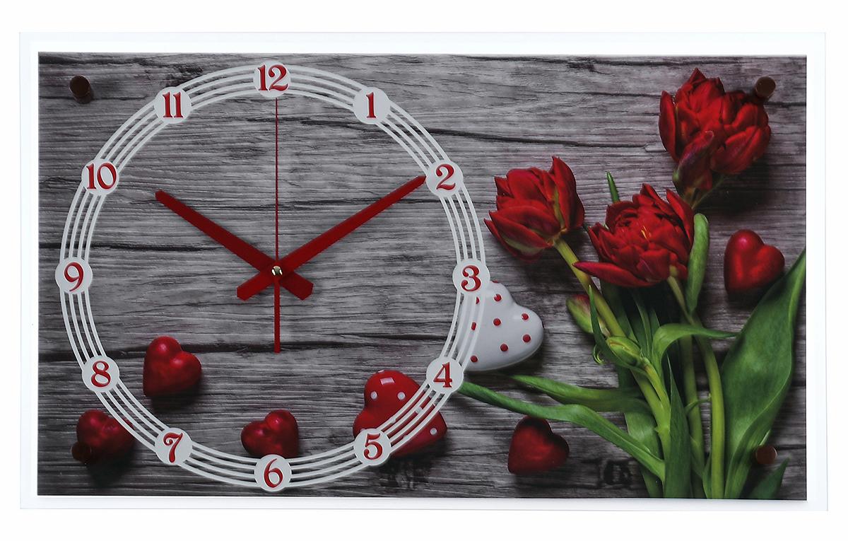 Часы настенные прямоугольные 21 Век Красные тюльпаны, 36 х 60 см2976093Каждому хозяину периодически приходит мысль обновить свою квартиру, сделать ремонт, перестановку или кардинально поменять внешний вид каждой комнаты. — привлекательная деталь, которая поможет воплотить вашу интерьерную идею, создать неповторимую атмосферу в вашем доме. Окружите себя приятными мелочами, пусть они радуют глаз и дарят гармонию.— сувенир в полном смысле этого слова. И главная его задача — хранить воспоминание о месте, где вы побывали, или о том человеке, который подарил данный предмет. Преподнесите эту вещь своему другу, и она станет достойным украшением его дома.Часы настенные прямоугольные Красные тюльпаны, 36х60 см 2976093