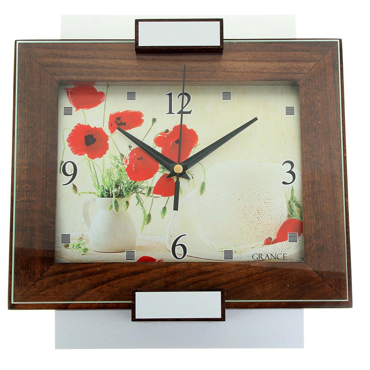 Часы настенные Grance Маки часы michael kors michael kors mi186dwaowf8