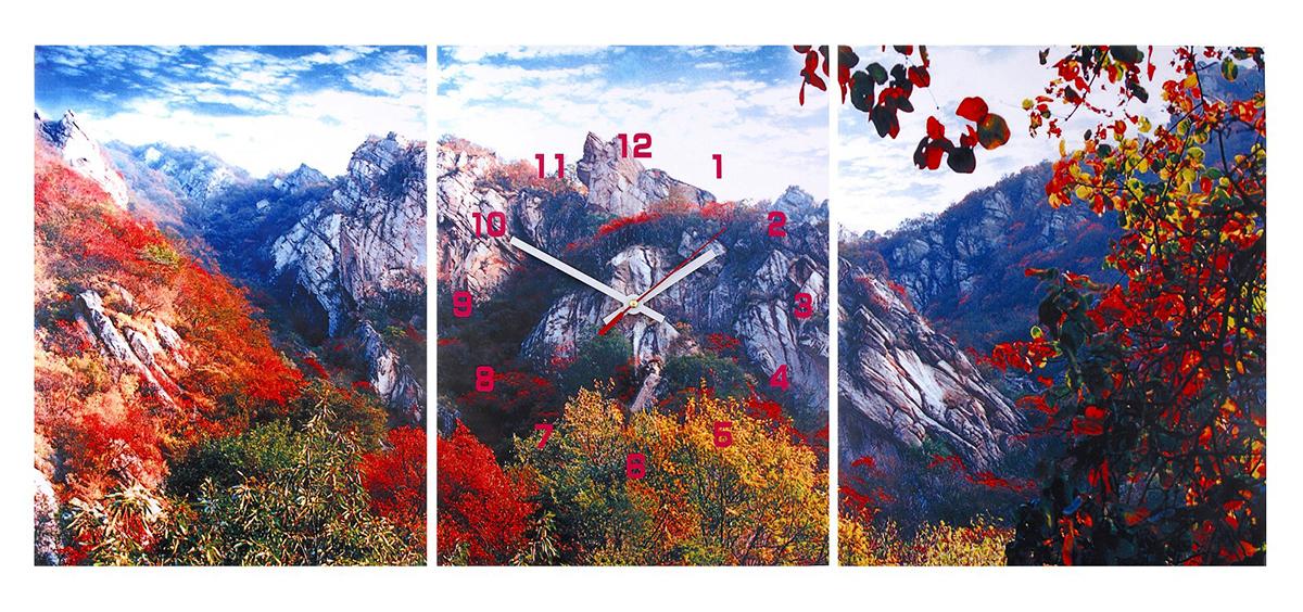 Часы-картина настенные Осень в горах, 30 х 40 см часы картина настенные proffi home тропический рай 30 х 40 см