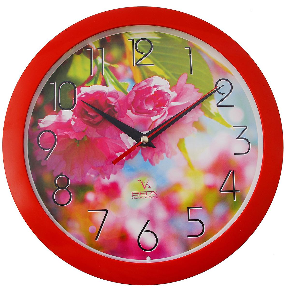 """Часы настенные круглые """"Азалия"""", цветы — сувенир в полном смысле этого слова. И главная его задача — хранить воспоминание о месте, где вы побывали, или о том человеке, который подарил данный предмет. Преподнесите эту вещь своему другу, и она станет достойным украшением его дома. Каждому хозяину периодически приходит мысль обновить свою квартиру, сделать ремонт, перестановку или кардинально поменять внешний вид каждой комнаты. Часы настенные круглые """"Азалия"""", цветы — привлекательная деталь, которая поможет воплотить вашу интерьерную идею, создать неповторимую атмосферу в вашем доме. Окружите себя приятными мелочами, пусть они радуют глаз и дарят гармонию.Часы настенные круглые """"Азалия"""", цветы 708052"""