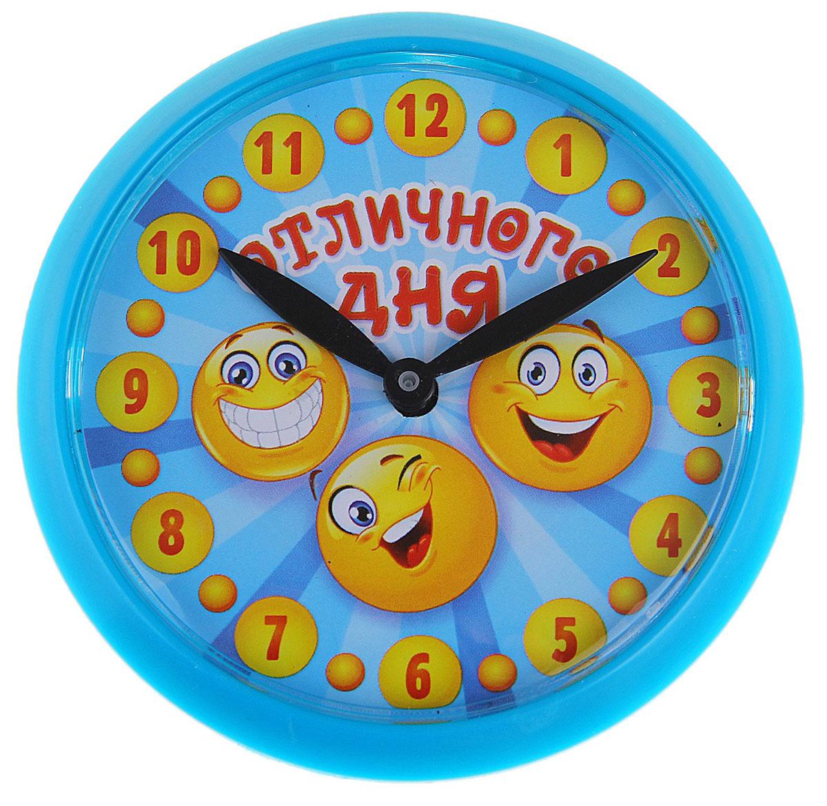 Часы-магнит настенные Отличного дня, диаметр 6,9 см740028Самый простой способ поднять себе и окружающим настроение ? это небольшое обновление интерьера, ставшего уже привычным. Часы-магнит Отличного дня, красочные и оригинальные, заставят улыбнуться людей всех возрастов. Часы крепятся на любую металлическую поверхность, например, на холодильник. Диаметр циферблата 6,9 см.Часы-магнит Отличного дня, d6.9 см 740028