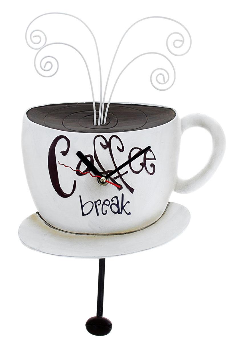 """Каждому хозяину периодически приходит мысль обновить свою квартиру, сделать ремонт, перестановку или кардинально поменять внешний вид каждой комнаты. Часы настенные кухонные """"Серия Франсуаза. Coffee Break"""" — привлекательная деталь, которая поможет воплотить вашу интерьерную идею, создать неповторимую атмосферу в вашем доме. Окружите себя приятными мелочами, пусть они радуют глаз и дарят гармонию.Часы настенные серия Франсуаза Coffee Break 25,5*34.5см 760873"""