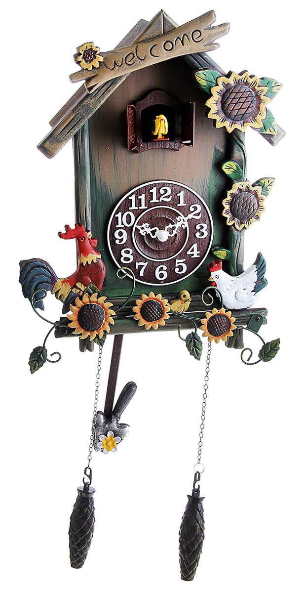 Часы настенные с кукушкой Птичий двор, 21 х 29 см760890Каждому хозяину периодически приходит мысль обновить свою квартиру, сделать ремонт, перестановку или кардинально поменять внешний вид каждой комнаты. Часы настенные с кукушкой Птичий двор — привлекательная деталь, которая поможет воплотить вашу интерьерную идею, создать неповторимую атмосферу в вашем доме. Окружите себя приятными мелочами, пусть они радуют глаз и дарят гармонию.часы настенные с кукушкой дерево Птичий двор 21*29см 760890