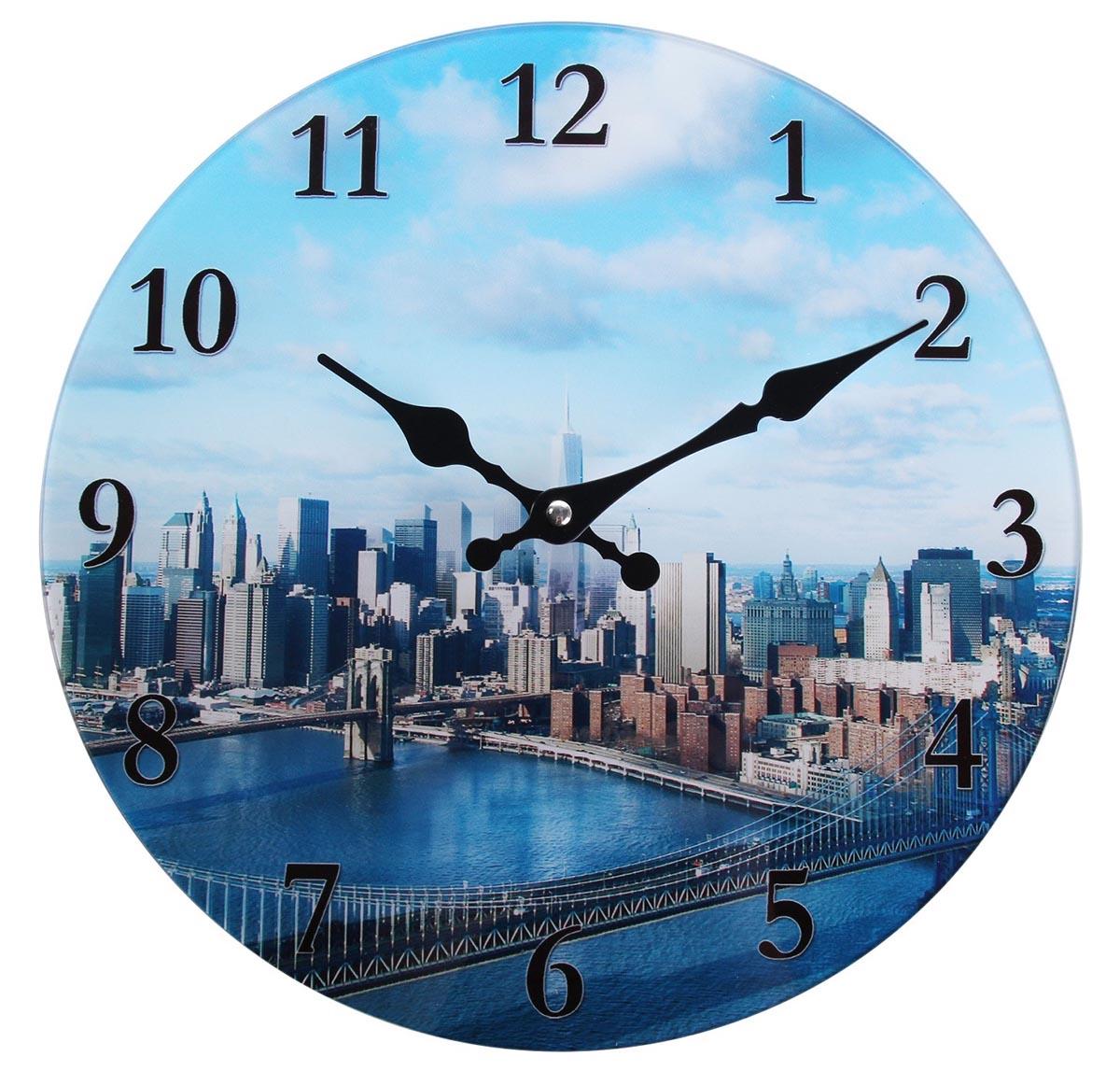 Часы настенные Мегаполис утром, диаметр 30 см760929Каждому хозяину периодически приходит мысль обновить свою квартиру, сделать ремонт, перестановку или кардинально поменять внешний вид каждой комнаты. Часы настенные из стекла Мегаполис — привлекательная деталь, которая поможет воплотить вашу интерьерную идею, создать неповторимую атмосферу в вашем доме. Окружите себя приятными мелочами, пусть они радуют глаз и дарят гармонию.часы настенные круг Мегаполис утром d=30см 760929