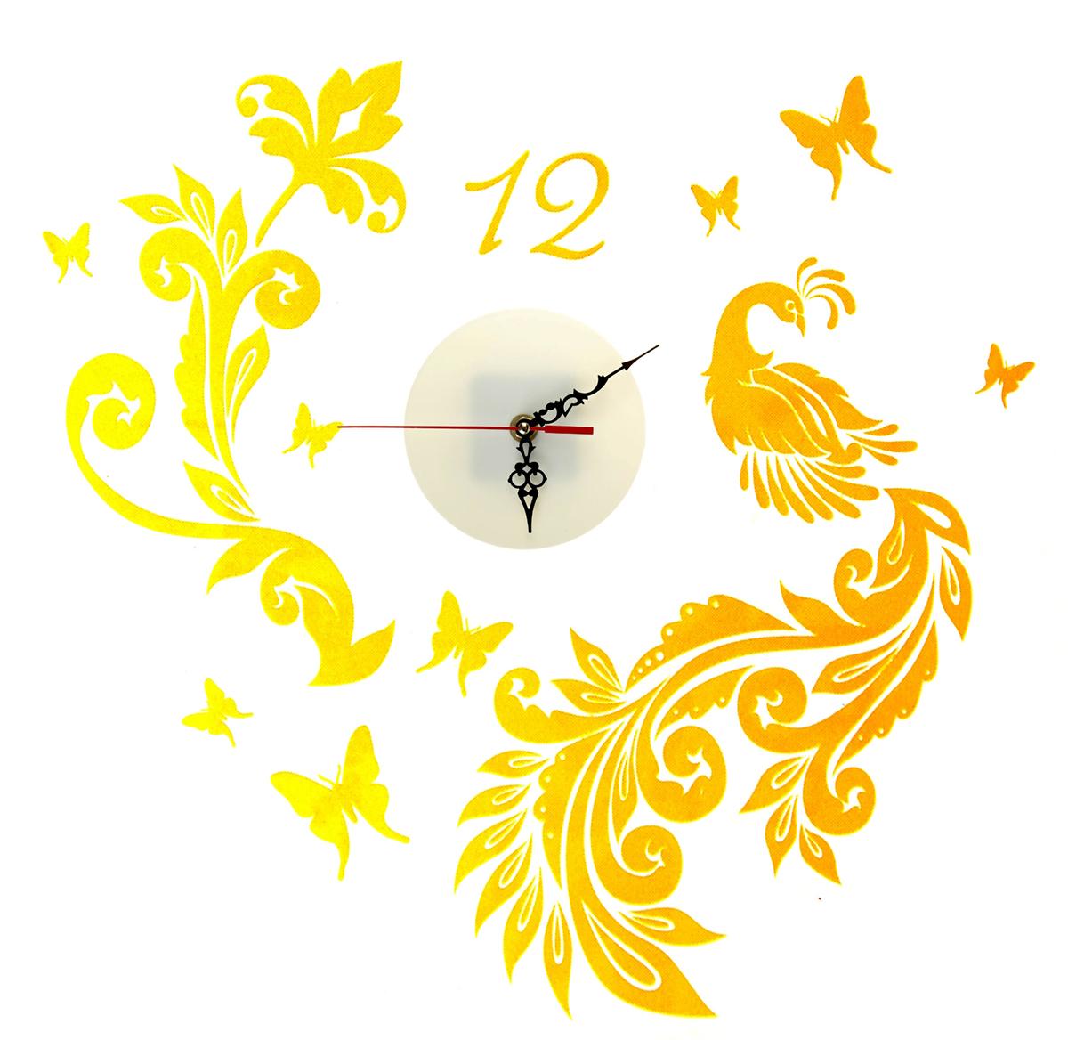 Часы-наклейка на стену