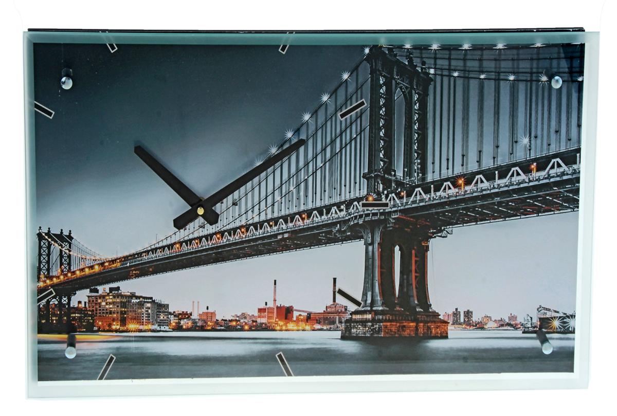 Часы настенные прямоугольные Сюжет Мост, 35 х 60 см823605Каждому хозяину периодически приходит мысль обновить свою квартиру, сделать ремонт, перестановку или кардинально поменять внешний вид каждой комнаты. Часы настенные прямоугольные Мост, стекло, 35х60 см — привлекательная деталь, которая поможет воплотить вашу интерьерную идею, создать неповторимую атмосферу в вашем доме. Окружите себя приятными мелочами, пусть они радуют глаз и дарят гармонию. Часы настенные прямоугольные Мост, стекло, 35х60 см — сувенир в полном смысле этого слова. И главная его задача — хранить воспоминание о месте, где вы побывали, или о том человеке, который подарил данный предмет. Преподнесите эту вещь своему другу, и она станет достойным украшением его дома.Часы настенные прямоугольные Мост, стекло, 35х60 см 823605