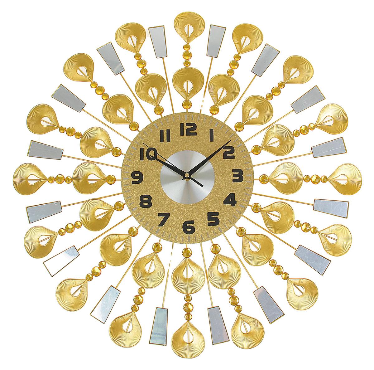 Часы настенные Ажур. Большие капельки, диаметр 60 см831286Каждому хозяину периодически приходит мысль обновить свою квартиру, сделать ремонт, перестановку или кардинально поменять внешний вид каждой комнаты. Часы настенные интерьерные Серия Ажур. Большие капли, d=60 см — привлекательная деталь, которая поможет воплотить вашу интерьерную идею, создать неповторимую атмосферу в вашем доме. Окружите себя приятными мелочами, пусть они радуют глаз и дарят гармонию.Часы настенные серия Ажур на лучиках большие капельки, d=60см 831286