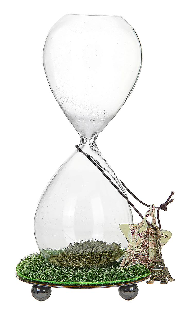 Песочные часы Трава, зеленый песок, 8 х 16,5 см864008Каждому хозяину периодически приходит мысль обновить свою квартиру, сделать ремонт, перестановку или кардинально поменять внешний вид каждой комнаты. Часы песочные Трава-магнит зеленый песок с добавлением металла — привлекательная деталь, которая поможет воплотить вашу интерьерную идею, создать неповторимую атмосферу в вашем доме. Окружите себя приятными мелочами, пусть они радуют глаз и дарят гармонию.часы песочные на подставке трава/магнит, песок зеленый мет, сыпется елочкой 8*16,5см 864008