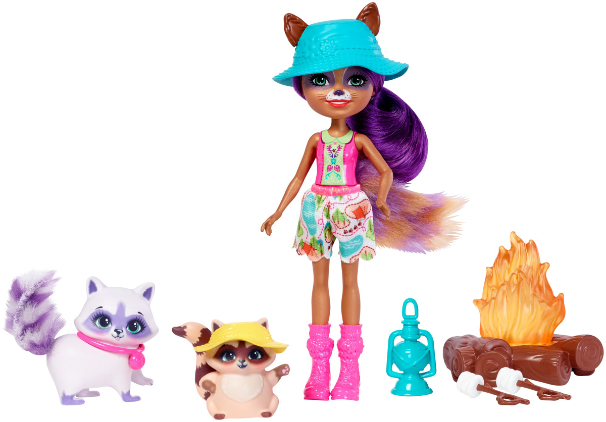 Enchantimals Игровой набор с куклой Campfire Friends игровой набор enchantimals кукла со зверюшкой и аксессуарами в ассортименте