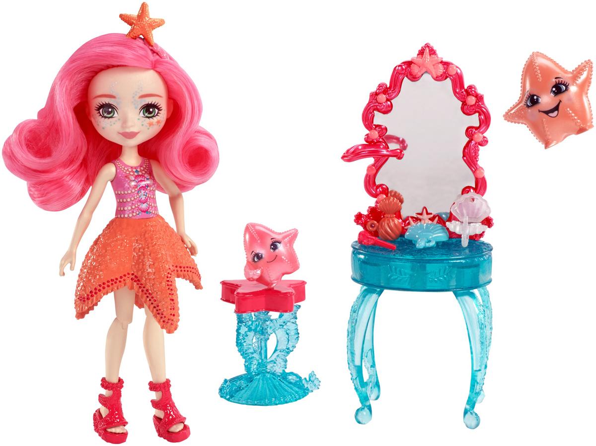 Enchantimals Игровой набор с куклой Морские подружки с тематическим набором цвет розовый зеленый оранжевый - Куклы и аксессуары
