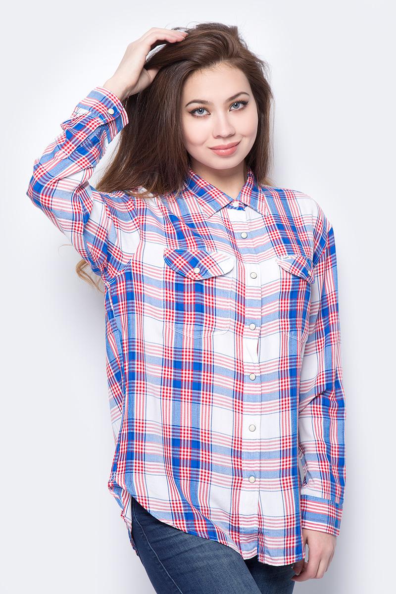 Рубашка женская Lee, цвет: синий. L45OKLEG. Размер XS (40)
