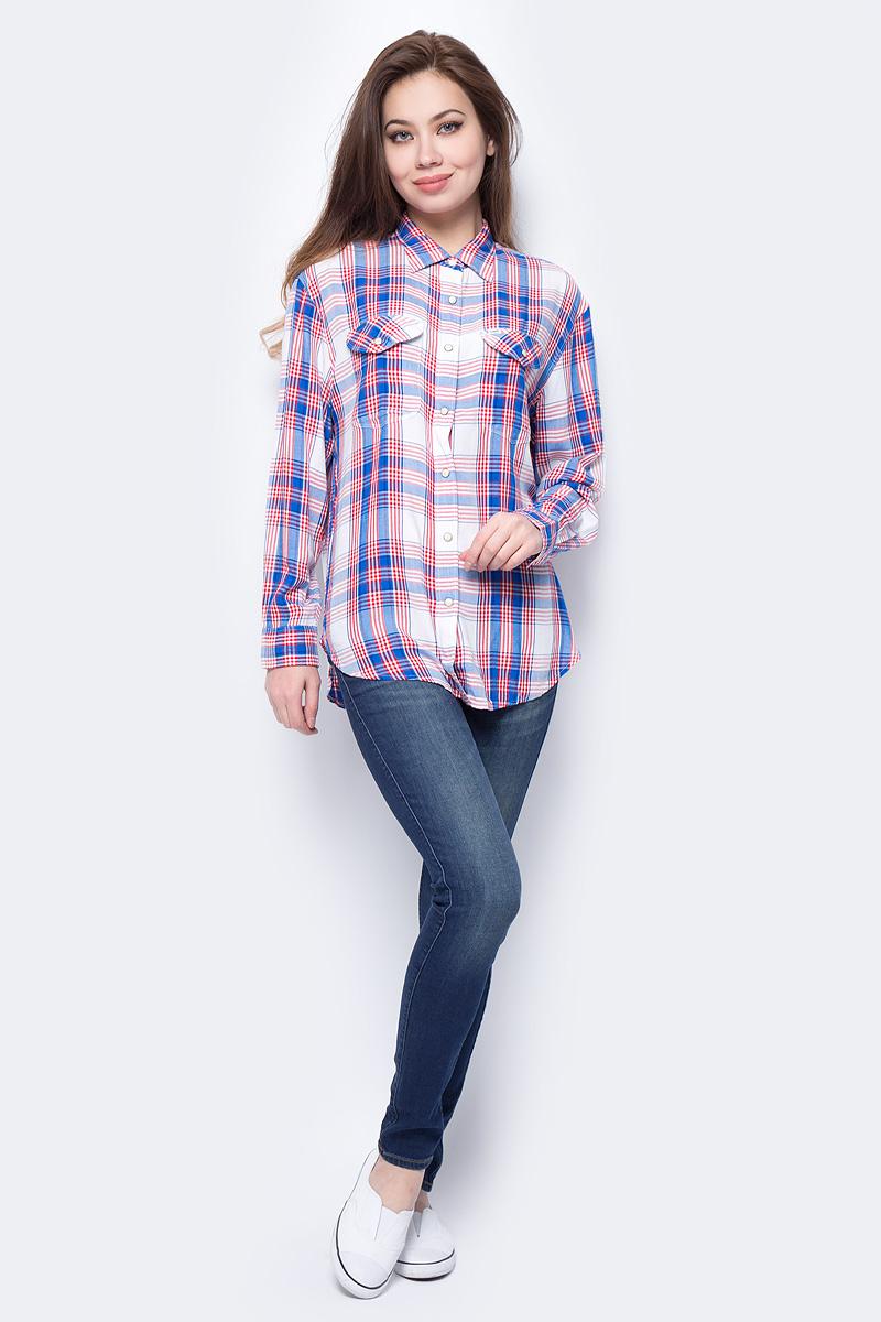 Блузка женская Lee, цвет: синий. L45OKLEG. Размер L (46)L45OKLEG