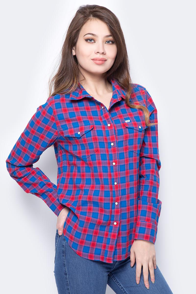 Рубашка женская Lee, цвет: синий. L48EKOEG. Размер S (42)