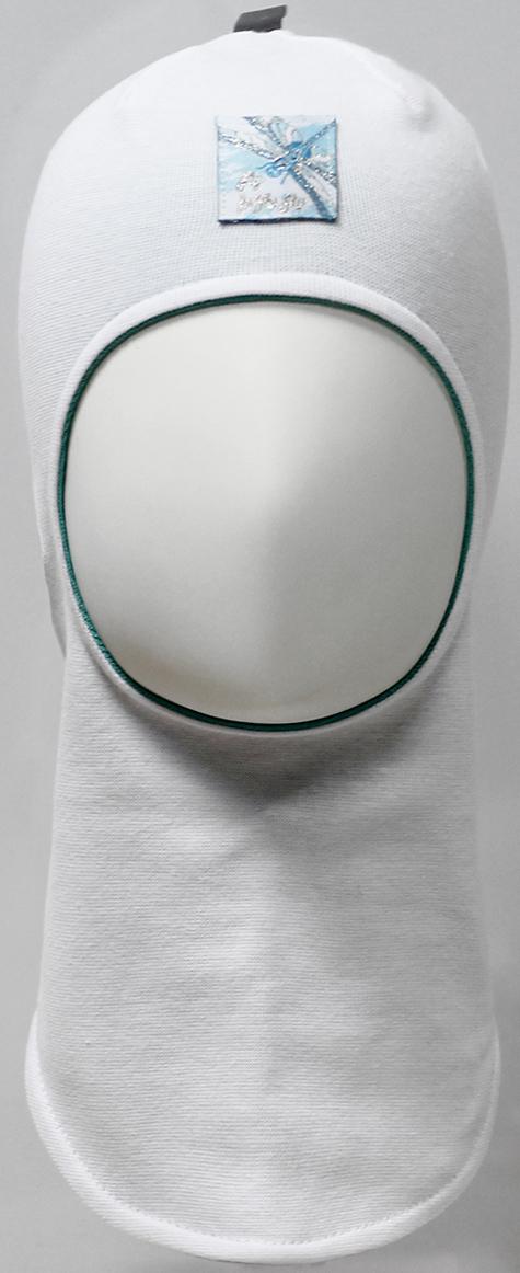 Шапка-шлем для девочки Marhatter, цвет: белый. MDT7530/5. Размер 48/50MDT7530/5Шлем для девочек Marhatter изготовлен из тонкого хлопка с содержанием лайкры. На макушке светоотрожающия тесьма. Модель украшена жаккардовым шевроном со стрекозой. Хлопковая подкладка. Подойдет для детей от 1 года. Уважаемые клиенты!Размер, доступный для заказа, является обхватом головы.